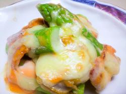 ホタテとアスパラのチーズ焼き