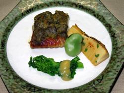 銀鱈の蕗味噌焼き