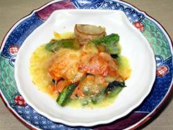 帆立アスパラチーズ焼き