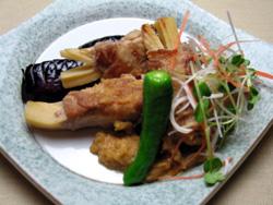 竹の子豚肉巻き