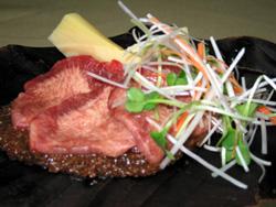 筍と牛タンの朴葉焼き
