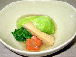 鶏竹の子春キャベツ