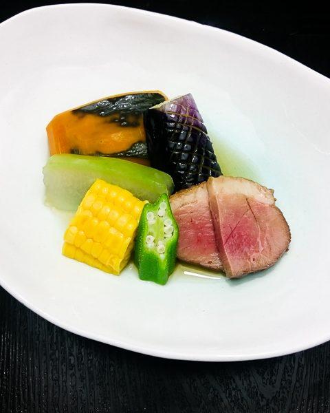 夏野菜の炊き合わせ