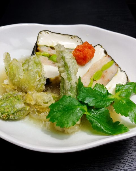 春の揚げ出汁豆腐