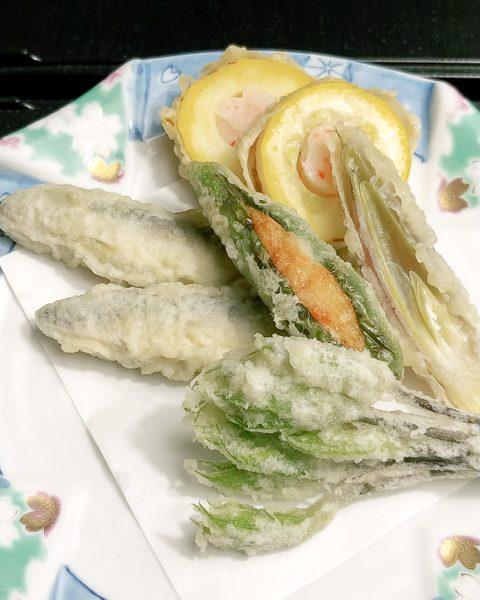 稚鮎と野菜の天ぷら