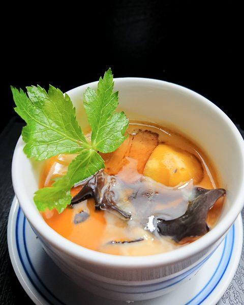栗と角煮の茶碗蒸し