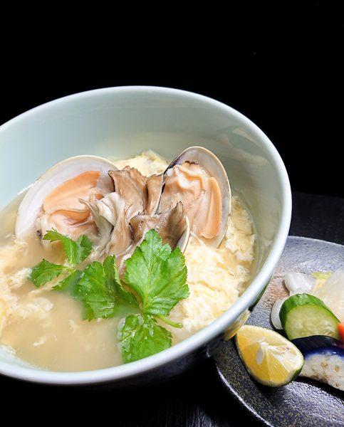 蛤と舞茸の雑炊